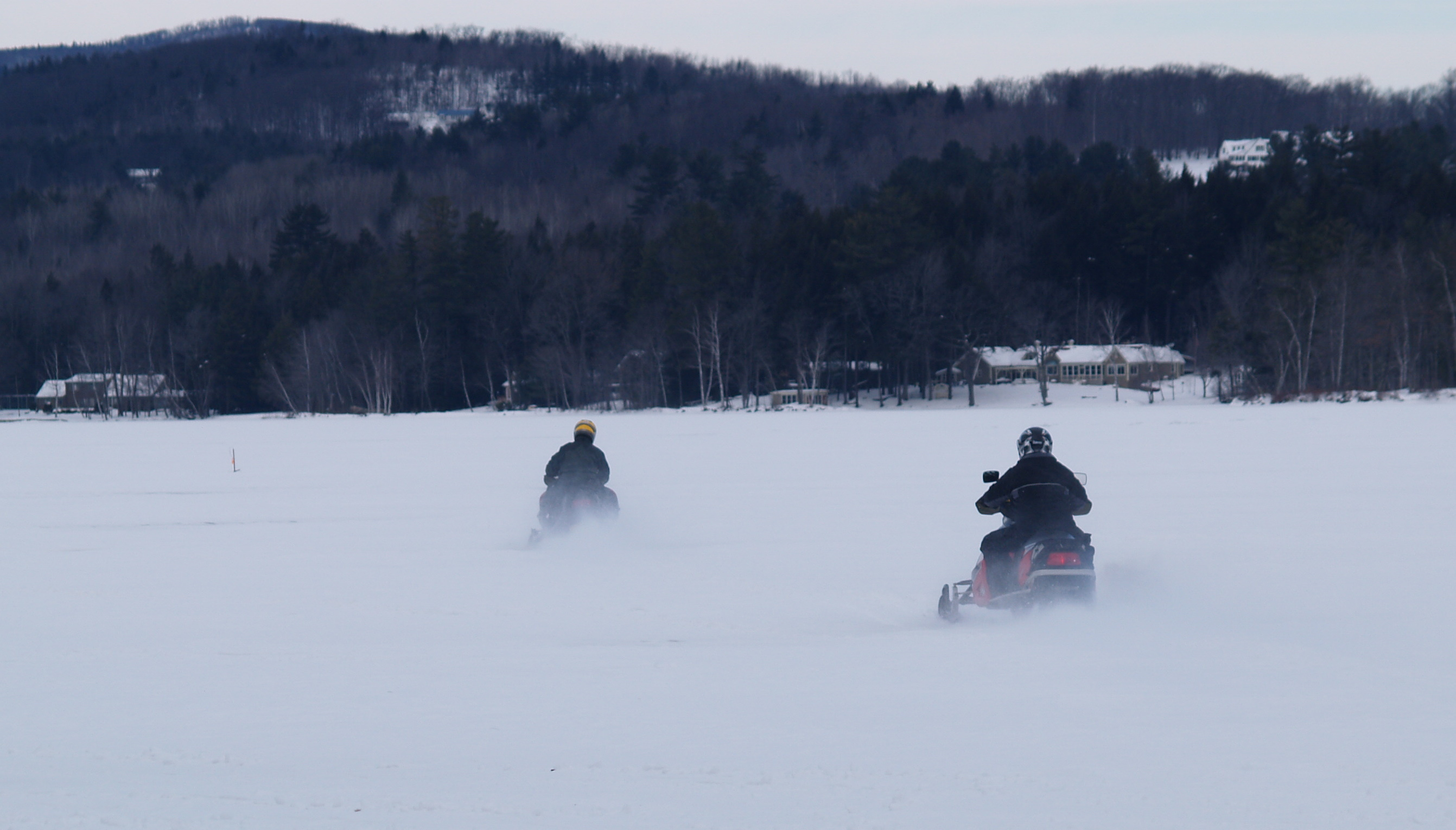 Snowmobiling on Wilson Lake