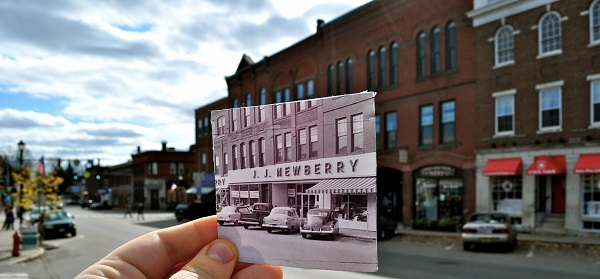Downtown Farmington, then and now